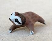 Tiny sloth - Handmade miniature polymer clay animal figure