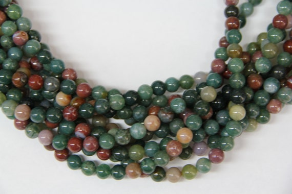 "India Agate 8mm smooth round beads 16"" length full strand"
