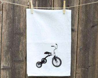 Flour Sack Towel-Tea-Dish-Hand-Kitchen-Children's Tricycle