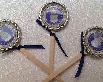 12 US Air Force Cup Cake Toppers