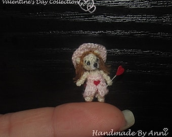 Miniature bear - valentine's day gift, micro bear, miniature teddy bear dollhouse bear, me to you bear, love bear