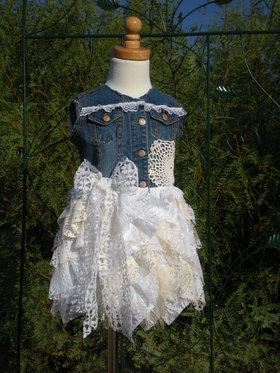 Country Flower Girl Dress Lace Cowgirl Flower Girl Dress