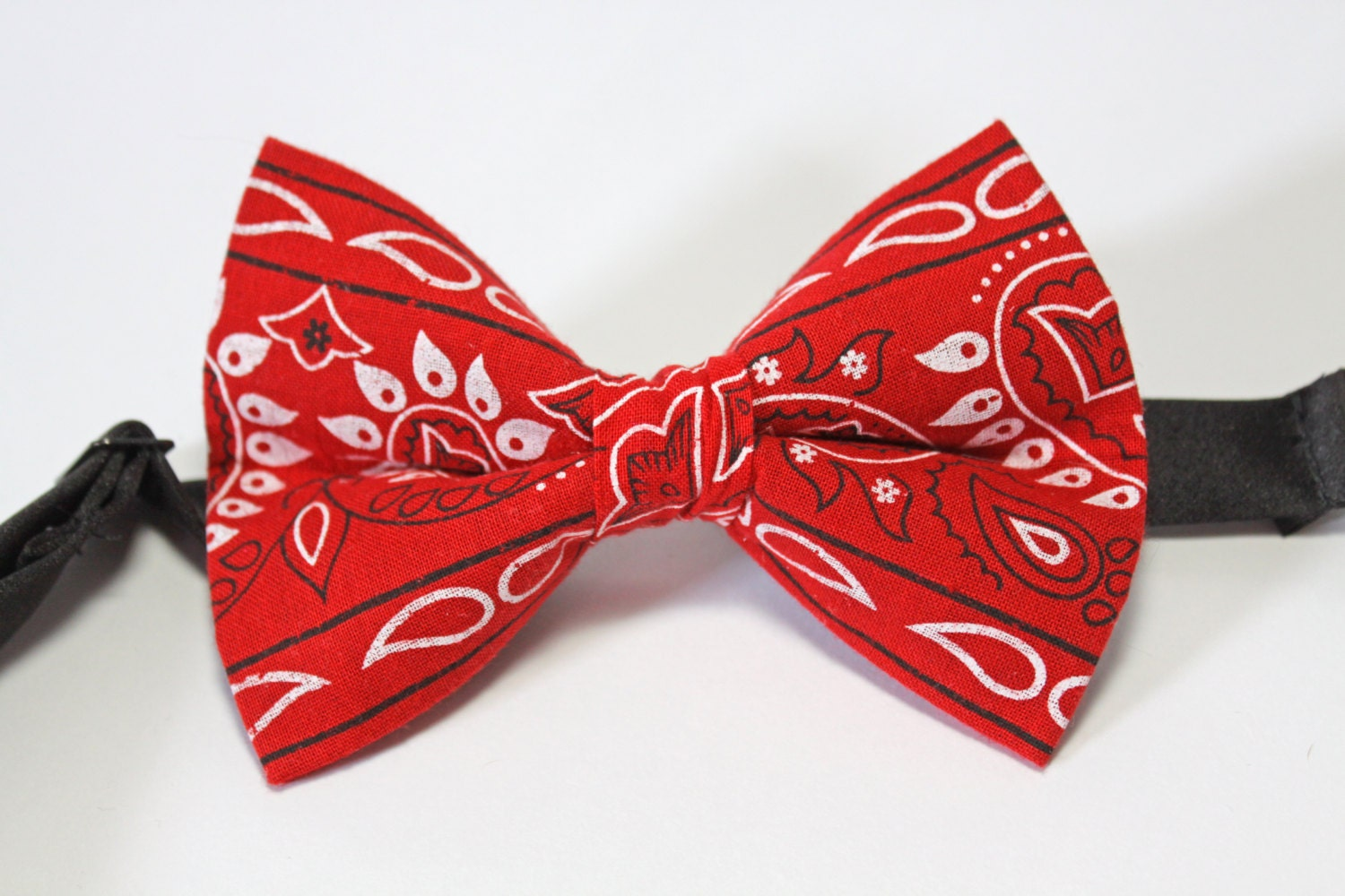 red bandana bow tie by jakesimp on etsy