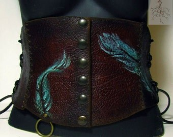 Feather Belt corset