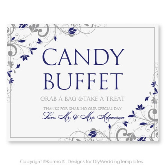Candy Buffet Foldover Sign Template DOWNLOAD by KarmaKWeddings