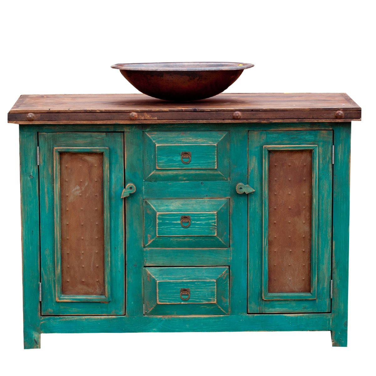 turquoise bathroom cabinet custom bathroom vanities turquoise 15514 by foxdendecor on 14834