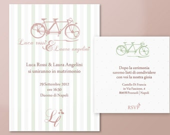 Wedding printable invitation - Tandem