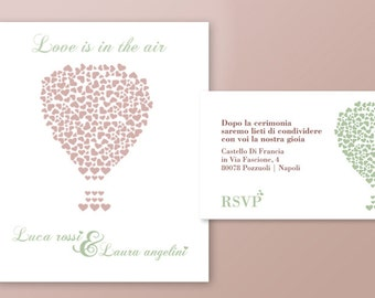Wedding printable invitation - Love is in the air!