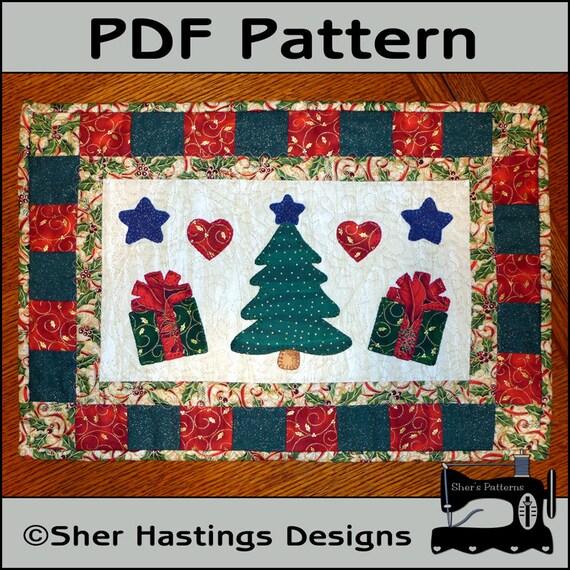 Christmas Tree Table Runner Quilt Pattern