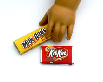 2 Piece Candy Assortment : Kit Kat, Lemonheads, Crunch, Hershey's - Handmade Gourmet Doll Food For Your American Girl Doll