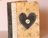 Heart Needle/ Sewing Book- Green and Yellow/Cream