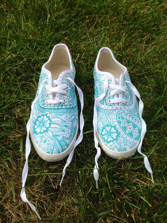 paisley patterned canvas shoes by etsybyveasey on etsy