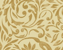 SALE!! Half Yard My True Love Gave to Me - Damask in Linen Cotton Quilt Fabric - Erin McAllister - Benartex Fabrics (W381)