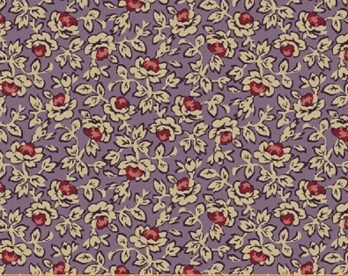 SUPER CLEARANCE! One Yard Rebecca - Small Floral in Purple - Cotton Quilt Fabric - by Mary Koval  - Windham Fabrics (W309)