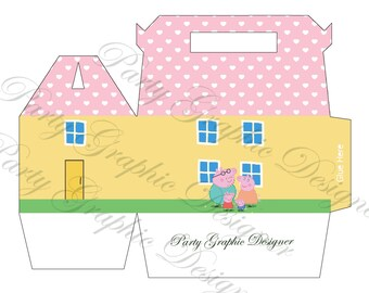 box party, lunch box, gable box Peppa Pig