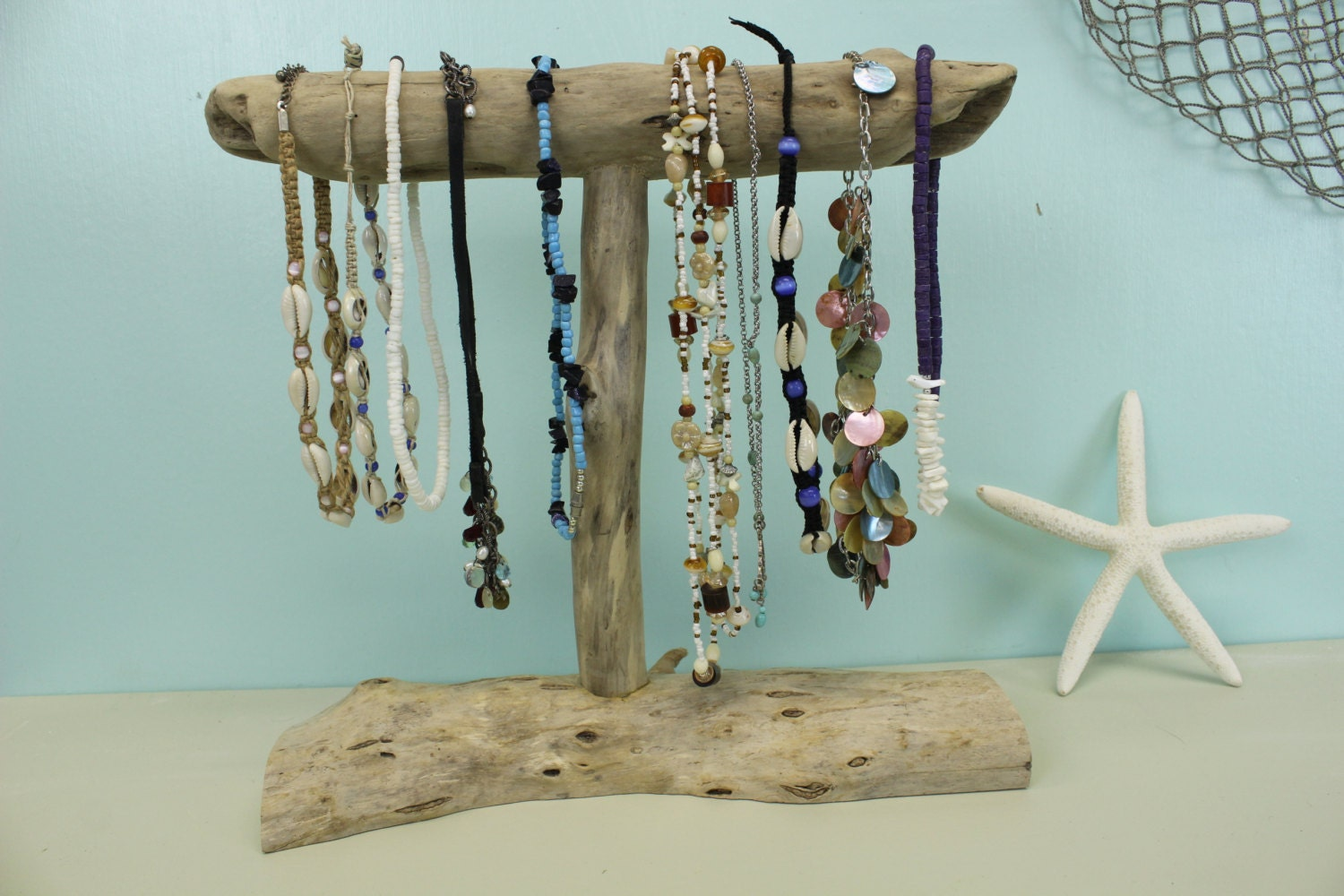 driftwood jewelry holder necklace display jewelry stand. Black Bedroom Furniture Sets. Home Design Ideas