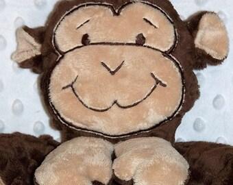 Hand-crafted Monkey Woobie - Minky Security Blanket
