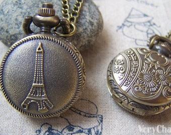 Eiffel Tower Pocket Watch 31x38mm Set of 1 A5732