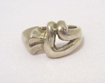 Vintage Art Nouveau Sterling silver Ring Size 7