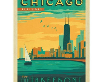Chicago Illinois Lakefront Wall Decal #42229