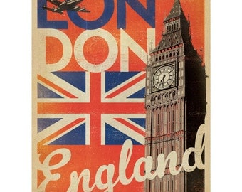 London England Flag Big Ben Wall Decal #42239