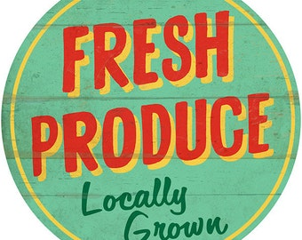 Fresh Produce Farm Stand Market Wall Decal #40779