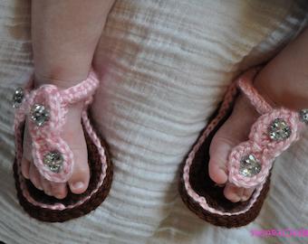 Crochet Baby sandals, Gladiator Sandals, Infant Crochet Sandals, Newborn Crochet Sandals, Crochet Sandals for Babies,