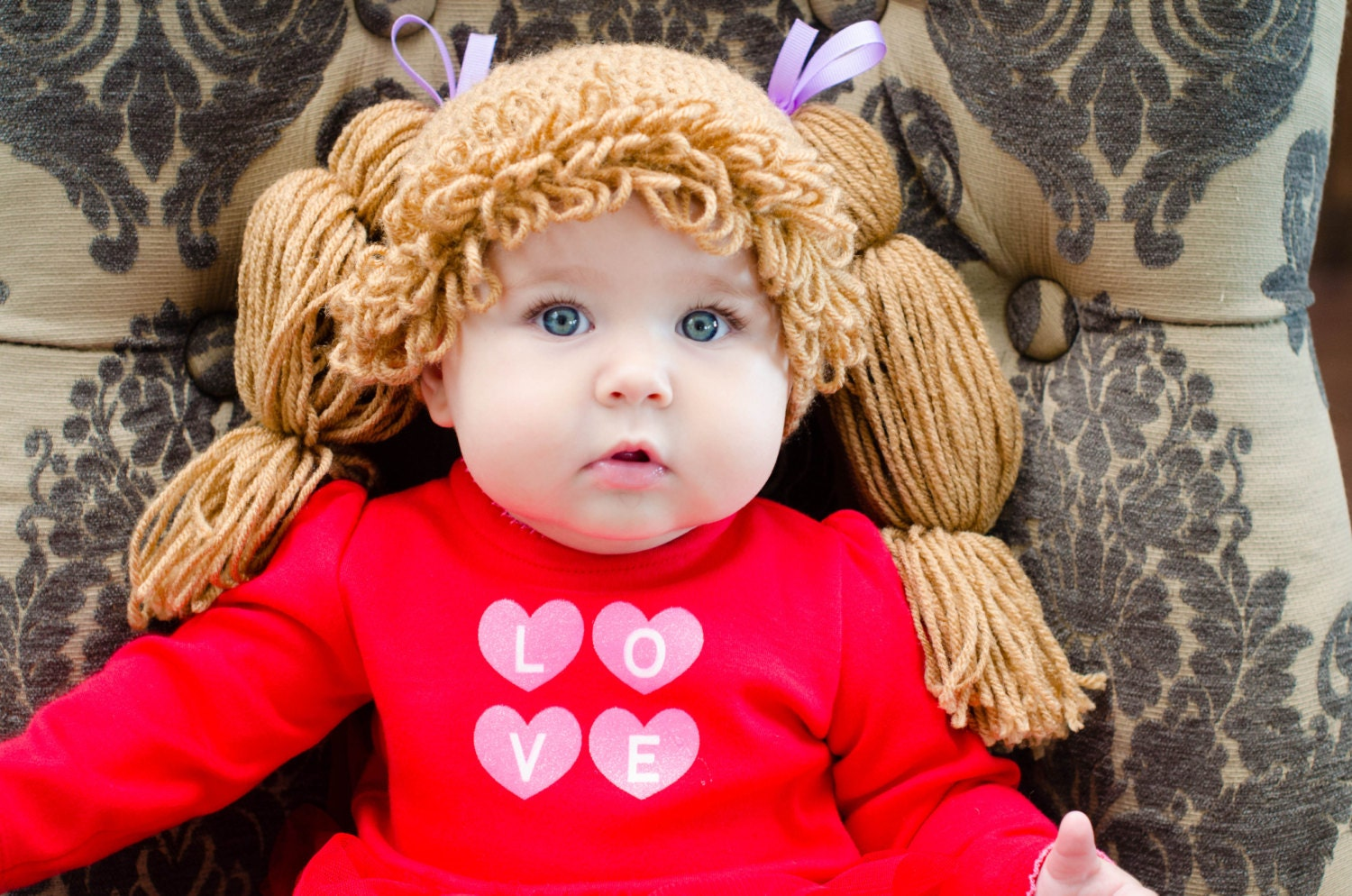 Crochet Pattern For Cabbage Patch Baby Hat : Cabbage Patch Hat