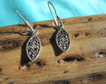 Sterlig Silver Earrings with Marcasite