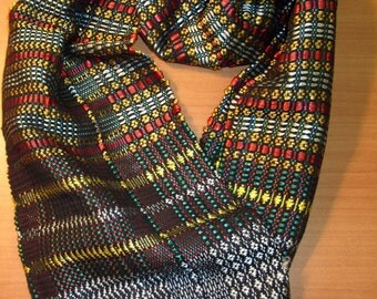 Colorful funky scarf