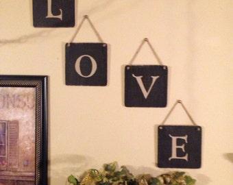 MONOGRAM LETTERS Wedding /Home Decor, LOVE Wood Sign, Wall Hanging Decor, Wedding Prop