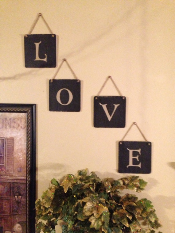 Items Similar To Monogram Letters Wedding Home Decor