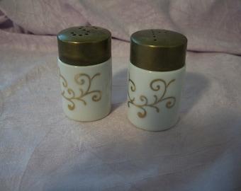 Vintage White Porcelain Salt and Pepper Shakers