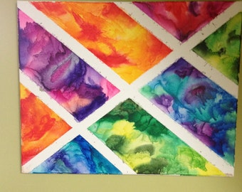 16x20 melted crayon art