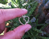 12 Kidney-Heart Charms Silver-Plated