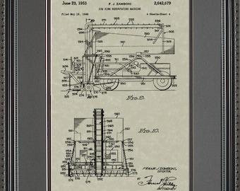 Zamboni Ice Resurfacer Patent Artwork Hockey Rink Gift Z2679