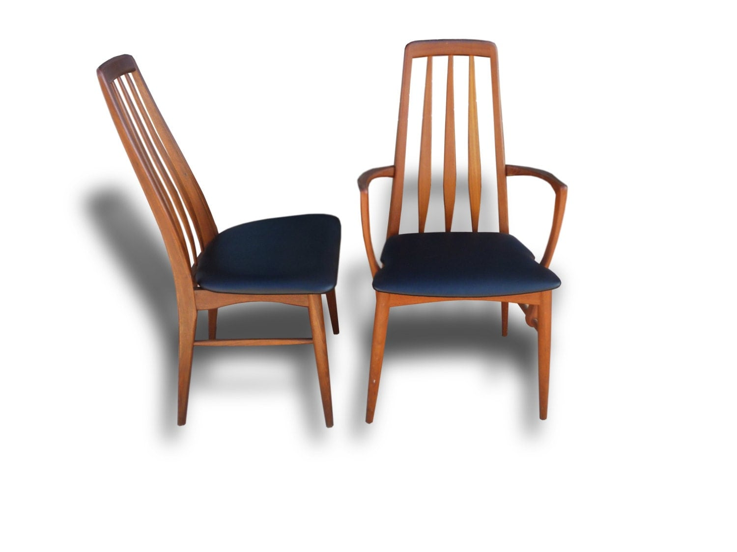 mid century danish modern eva high back dining chairs by niels