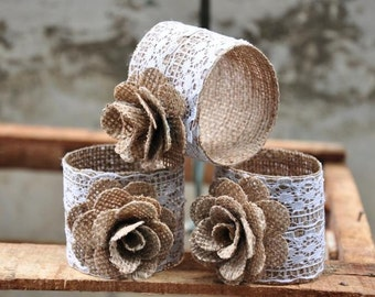 Burlap Napkin Rings (3 Pack)