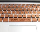 Real Wood Macbook Keyboard Skin with Custom Spacebar