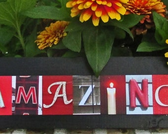 AMAZING sign art Photo Letter Art on Wood alphabet phtography letter art on wood