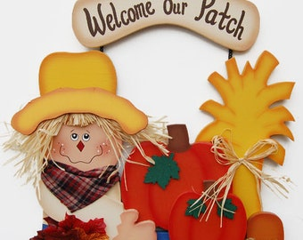 Fall Scarecrow Personalized- Welcome to our Patch