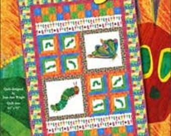 "Very Hungry Caterpillar Quilt Kit - Featuring Very Hungry Caterpillar Encore by Eric Carle for Andover Fabrics - Finished Size 64""x92"" - DIY"