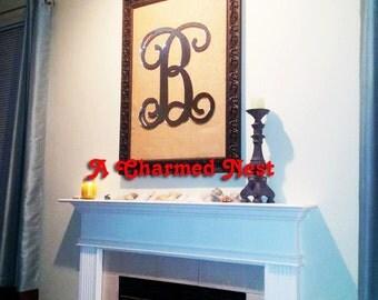 """24 """" Wooden Monogram Initials - Wooden Letters - Initial Door Hanger"""