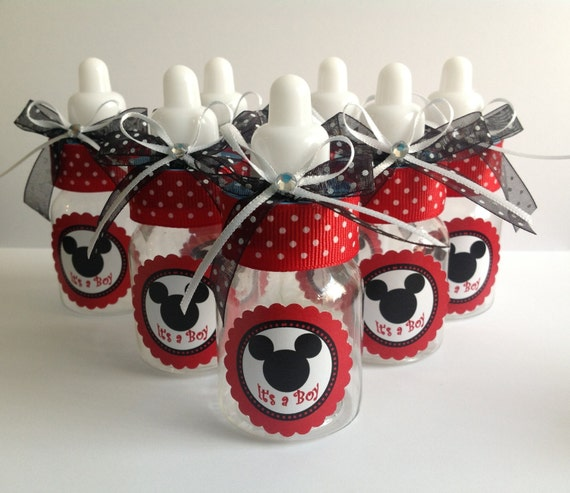 minnie and mickey mouse baby shower favors