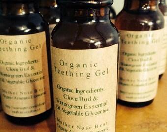 Organic teething gel
