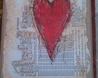 I Love You With a Thousand Hearts Art Card