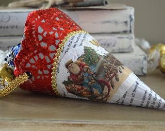 "Vintage ""Bonbonniere"" Confectionary Holiday Ornament"
