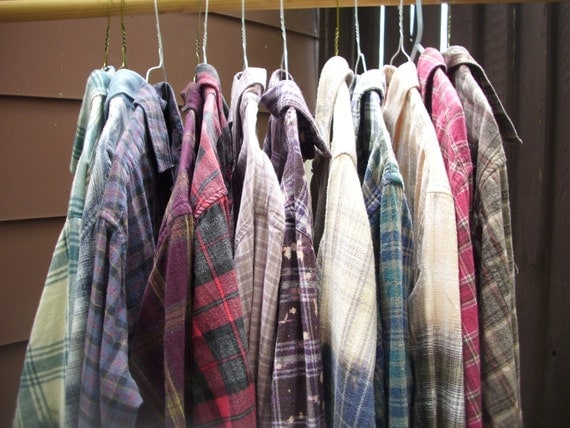Mystery flannel ombre flannel shirt bleached flannel by for How to wash flannel shirts