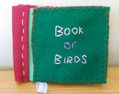 OOAK, Afrocentric, brightly coloured, mini bird felt book for children of all ages.