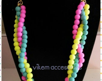 neon necklace statement